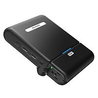 Pin Sạc Dự Phòng Cho Laptop RAVPower 27000mAh PB055 Hỗ Trợ AC 3 Chân Đầu Ra 100W Tích Hợp USB Type-C Output - Hàng Chính Hãng