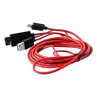 Cáp HDMI MHL Cho Điện Thoại Android (Đỏ) - Tặng Đầu Nối Dài Cáp HDMI