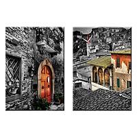 Tranh đồng hồ treo tường NGHỆ THUẬT CỔ ĐIỂN - Q22-OM-040-DH (30 x 50 cm) Thế Giới Tranh Đẹp