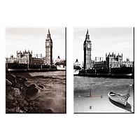 Tranh đồng hồ treo tường CẢNH ĐẸP THÀNH PHỐ LONDON - Q22-OM-180-DH (30 x 50 cm) Thế Giới Tranh Đẹp