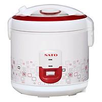 Nồi cơm điện SATO S18-87C 1.8 lít (Màu đỏ trắng) - Hàng chính hãng