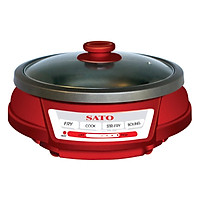Nồi Lẩu Điện SATO ST-301HP (3L) - Đỏ Đen - Hàng chính hãng