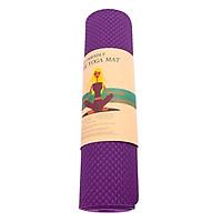 Thảm Tập Gym Và Yoga TPE 1 Lớp Zera 6MM1L (6mm) - Tím