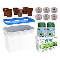 Chậu trồng thủy canh RAU ăn lá và dinh dưỡng Hydro Leafy 200g (6 rọ)
