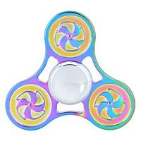 Con Quay Chong Chóng 3 Cánh 7 Màu - Rainbow Pinwheel Spinner CQ31 - Hàng Nhập Khẩu