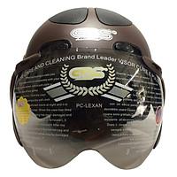 Mũ Bảo Hiểm GRS A102K - Nâu Line Đen