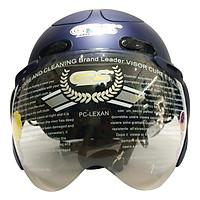 Mũ Bảo Hiểm GRS A102K - Xanh Nhám Line Xanh