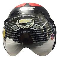 Mũ Bảo Hiểm GRS A102K - Đen Nhám Line Đỏ