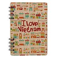 Sổ Bìa Gỗ Vietnam Building (120 Trang)