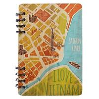 Sổ Bìa Gỗ Ho Chi Minh City Map (120 Trang)
