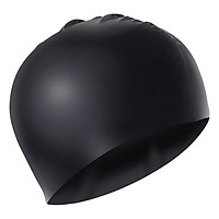 Nón Bơi Trơn POPO CA-31-Black - Đen