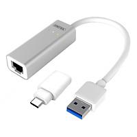 Cáp Chuyển USB 3.0 Ra LAN Unitek Y3464A (0.2m) - Hàng Chính Hãng