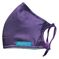 Khẩu Trang Karibon Silk Size L (Tím Trơn)