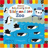 Sách tương tác tiếng Anh - Usborne Baby's Very First Slide and See Zoo