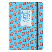 Sổ Tay Kẻ Ngang Crabit Notebuck Healthy Way Of Life 1003d - Xanh Da Trời (17.5 x 12.5 cm)