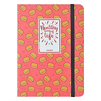 Sổ Tay Kẻ Ngang Crabit Notebuck Healthy Way Of Life 1003a - Đỏ (17.5 x 12.5 cm)