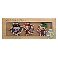 Set 3 Bookmark Gỗ Nam Châm Joker, Harley Quin, Batman