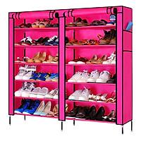 Tủ Vải Đựng Giày Dép Sắc Màu Pha Lê 6 Tầng 2 Buồng TV-12T (110 x 120 cm) - Màu Ngẫu Nhiên