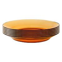 Bộ 6 Đĩa Thủy Tinh AmberDURALEX 3006DF06C1111 (23.5cm) - Hổ Phách