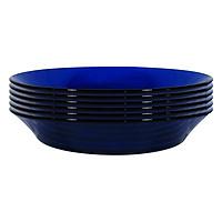 Bộ 6 Đĩa Súp Thủy Tinh Saphir DURALEX 3007FF06C1111-6 (23cm) - Xanh Cô Ban