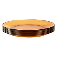 Bộ 6 Đĩa Thủy Tinh Amber DURALEX 3008DF06C1111-6 (19cm) - Hổ Phách