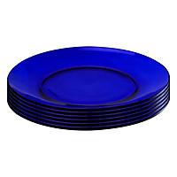 Bộ 6 Đĩa Ăn Thủy Tinh Saphir DURALEX 3008FF06C1111 (19cm) - Xanh Cô Ban