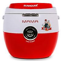 Nồi Cơm Điện Sunhouse Mama SHD8661 - 1.8L (Đỏ - Trắng) - Hàng chính hãng