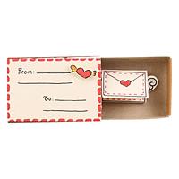Thiệp Tình Yêu Hộp Diêm From To I Love You Envelope
