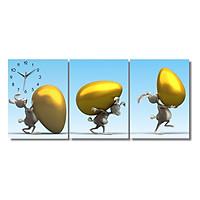 Tranh Đồng Hồ Dyvina 3T3040-2 – Quả Trứng Vàng