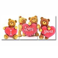 Tranh Đồng Hồ Dyvina 3T3040-3 - I Love You