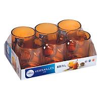 Bộ 6 Ly Thủy Tinh Amber DURALEX 4020DR06A1111 (260ml) - Hổ Phách