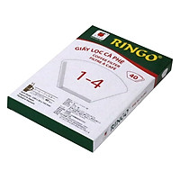 Giấy Lọc Cà Phê Ringo 1 x 4 (Hộp 40 Tờ) - Trắng