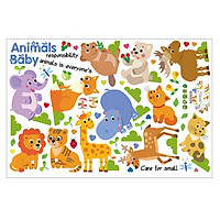 Decal Vườn Thú Baby Animals Lala Shop DC1737 (75 x 140 cm)