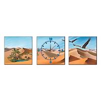 Tranh Đồng Hồ Treo Tường Bộ Ba Thế Giới Tranh Đẹp Sa Mạc Q6D8 (41)
