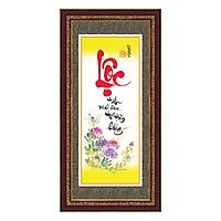 Tranh Khung Thư Pháp LỘC TẤN VINH HOA TPT_30-14 (30 x 60 cm) Thế Giới Tranh Đẹp