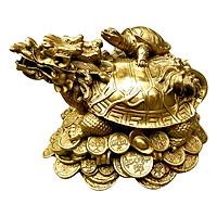 Tượng Rùa Đầu Rồng - Long Quy Hồng Thắng (Dài 17cm)