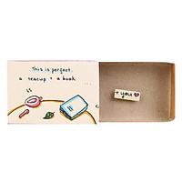 Thiệp Tình Yêu Hộp Diêm Perfect Teacup Book You