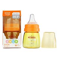 Bình Sữa Wesser Nano Silver Cổ Hẹp (60ml) - Vàng