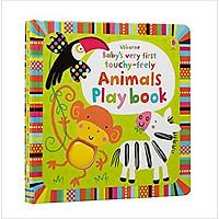 Sách tương tác tiếng Anh - Usborne Baby's very first touchy-feely Animals Play book