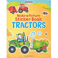 Usborne Make a Picture Sticker Book Tractors