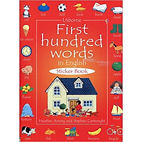 Usborne First hundred words in English Sticker book