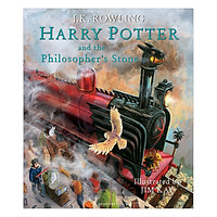 Harry Potter Part 1: Harry Potter And The Philosopher's Stone (Hardback) Illustrated Edition (Harry Potter và Hòn đá Phù Thủy) (English Book)