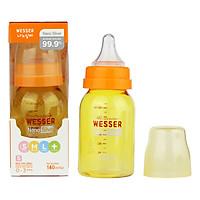 Bình Sữa Wesser Nano Silver Cổ Hẹp (140ml) - Vàng