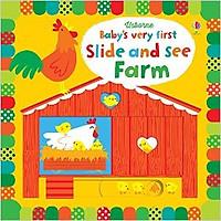 Sách tương tác tiếng Anh - Usborne Baby's very first Slide and See Farm