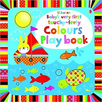 Sách tương tác tiếng Anh - Usborne Baby's very first touchy-feely Colours Play book