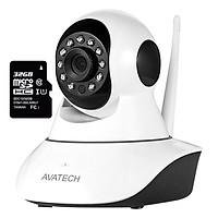 Camera Quan Sát IP Wi-Fi Avatech 6300B 1.3 + Thẻ Nhớ Micro SD 32GB - Hàng Chính Hãng