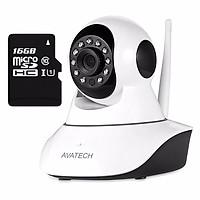 Camera Quan Sát IP Wi-Fi Avatech 6300B 1.3 + Thẻ Nhớ Micro SD 16GB - Hàng Chính Hãng