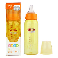 Bình Sữa Wesser Nano Silver Cổ Hẹp (250ml) - Vàng