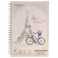 Tập Vẽ Lò Xo Takeyo A4 50 Tờ 8524 (Giao Mẫu Ngẫu Nhiên)