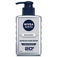 Sữa Rửa Mặt tạo Bọt Siêu Mịn Nivea Men Extra White (100ml) - 83956